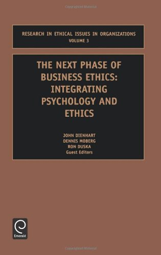 book The Next Phase of Business Ethics (Research in Ethical Issues in Organizations, 3) (Research in Ethical Issues in Organizations, 3) (Studies in Managerial and Financial Accounting)