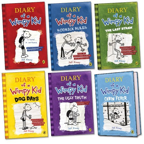 book Diary of a Wimpy Kid Pack, 5 paperbacks, 1 hardback, RRP \u00C2\u00A347.94 (The Last Straw; Diary Of A Wimpy Kid; Rodrick Rules; Dog Days; The Ugly Truth; Cabin Fever).