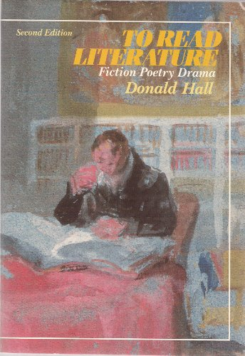 book To Read Literature: Fiction, Poetry, Drama