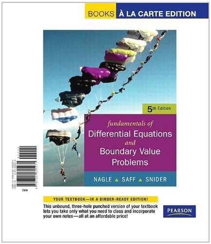 book Fundamentals of Differential Equations with Boundary Value Problems with IDE CD, Books a la Carte Edition (5th Edition)