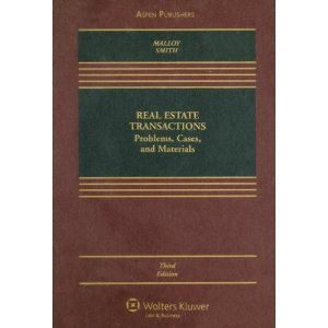book Real Estate Transactions (text only) 3rd (Third) edition by R. P. Malloy,J. C. Smith