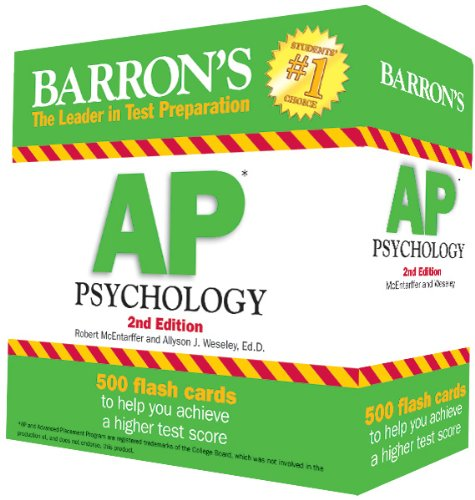 ap psych barrons Study 184 ap test 500 terms from barrons flashcards flashcards from grace u on studyblue.