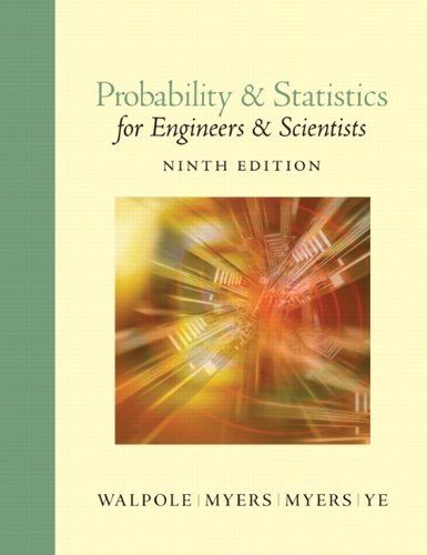 book Probability and Statistics for Engineers and Scientists (9th Edition)