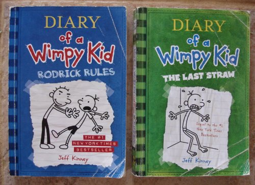 book Jeff Kinney Set of 2 Books (Diary of a Wimpy Kid: Rodrick Rules ~ Diary of a Wimpy Kid: The Last Straw)