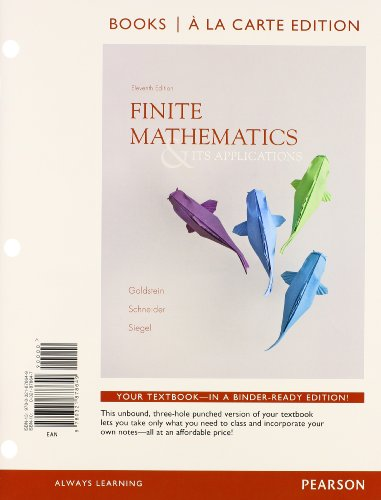 book Finite Mathematics and Its Applications, Books a la Carte Edition Plus NEW MyMathLab with Pearson eText with Pearson eText -- Access Card Package (11th Edition)