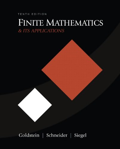 book Finite Mathematics & Its Applications (10th Edition)