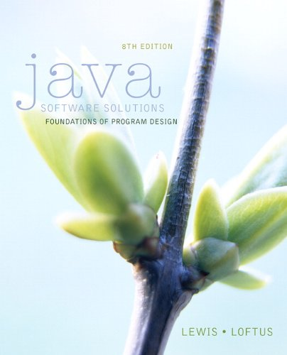 book Java Software Solutions (8th Edition)