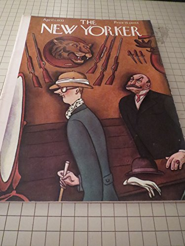 book April 1,1933 The New Yorker Magazine: The Hunting Room Cvr - Robert Benchley - Ogden Nash - Paul Horgan - Arthur Gutterman Poem \