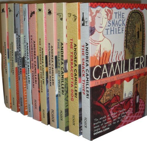 book Andrea Camilleri Montalbano Collection 10 Books Set (August Heat,The Paper Moon,The Voice of the Violin,The Scent of the Night,Excursion to Tindari,The Patience of the Spider,Rounding the Mark, The Shape of Water, The Terracotta Dog, The Snack Thief)
