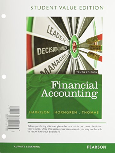 book Financial Accounting, Student Value Edition (10th Edition)