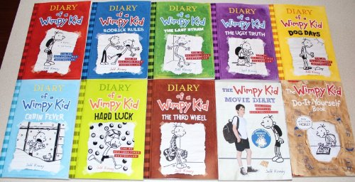 book Diary of a Wimpy Kid Collection 10 Book Set