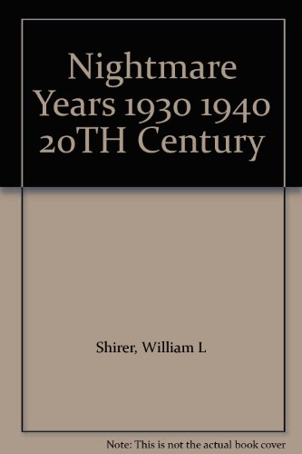 book Nightmare Years 1930 1940 20TH Century