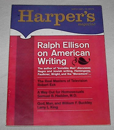 book Harper\'s Magazine, March, 1967, Vol. 234, No. 1402 (Ralph Ellison interview: On American Writing; Over the Edge of the Universe by Isaac Asimov)