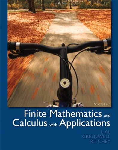 book Finite Mathematics and Calculus with Applications (9th Edition)