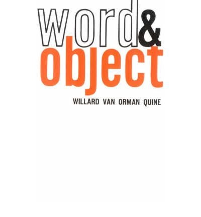 book [(Word and Object)] [Author: Willard Van Orman Quine] published on (January, 1960)