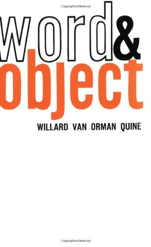 book Word and Object, Studies in Communication