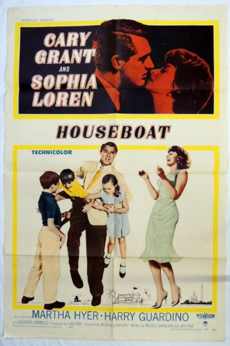 book 1958 HOUSEBOAT MOVIE POSTER Cary Grant, Sophia Loren