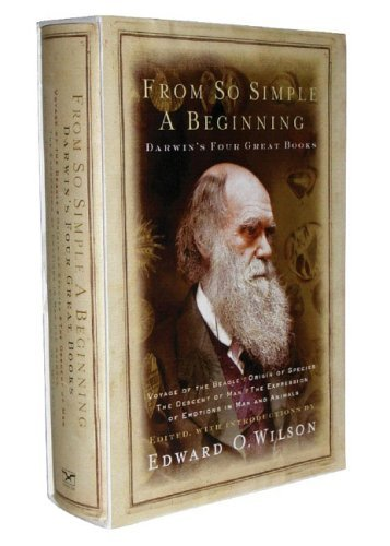 book From So Simple A Beginning Four Great Books Of Charles Darwin [HC,2005]