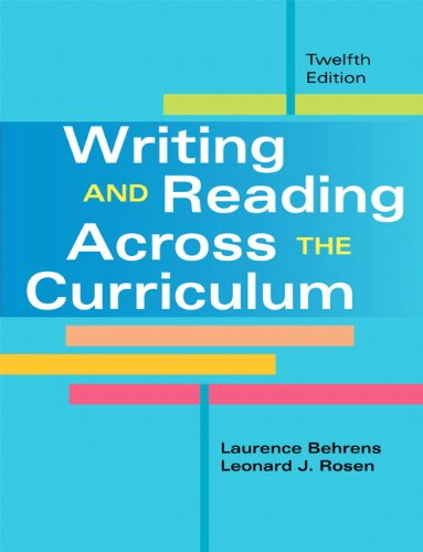 book Writing and Reading Across the Curriculum (12th Edition)