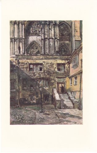 book The Abbot\'s Courtyard and the Entrance to the Jerusalem Chamber - Westminster Abbey - Illustration 1904