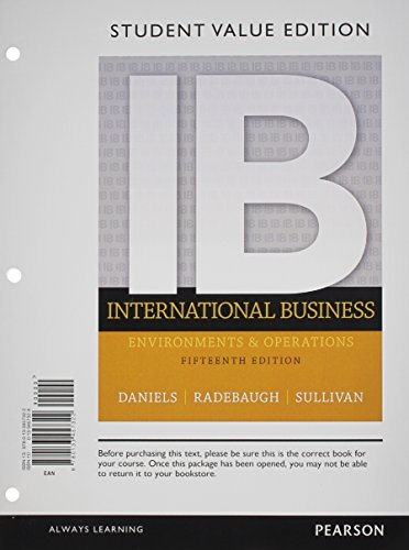 book International Business, Student Value Edition (15th Edition)