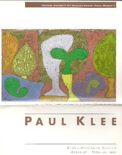 book Paul Klee Harvard University Art Museums Gallery Series, # 2