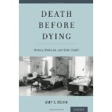book Death before Dying: History, Medicine, and Brain Death [HARDCOVER] [2014] [By Gary Belkin]