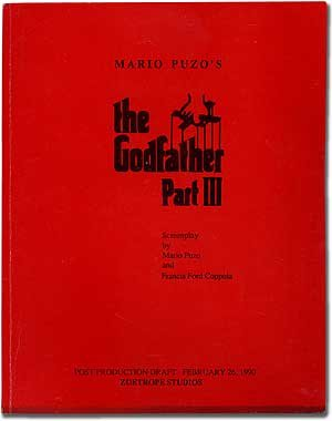 book [Screenplay]: Mario Puzo\'s The Godfather Part III