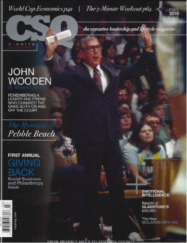 book CSQ John Wooden C Suite Quarterly Fall 2010 Other Additional Issues Available! Feel Free to Contact By Email
