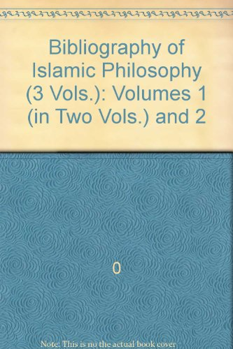 book Bibliography of Islamic Philosophy