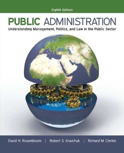 book Public Administration: Understanding Management, Politics, and Law in the Public Sector
