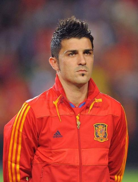 Soccer Players: David Villa Sanchez (born December 3, 1981), Spanish