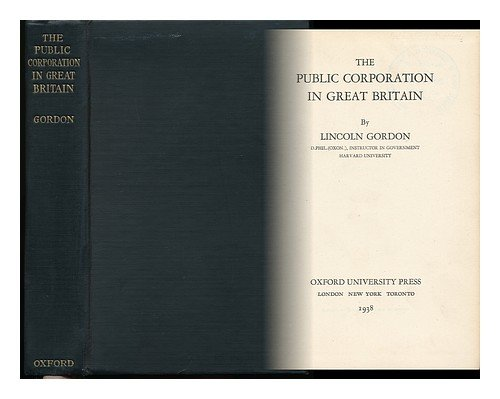 book The Public Corporation in Great Britain