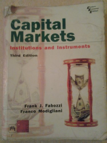 book Capital Markets Institutions and Instruments International edition