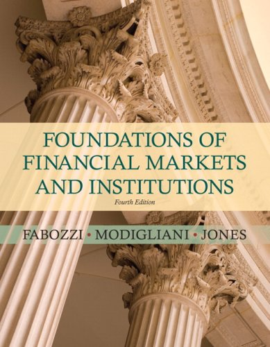 book Foundations of Financial Markets and Institutions (4th Edition)