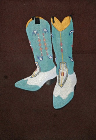 painting Beaded Boots
