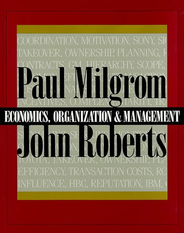 book Economics, Organization and Management