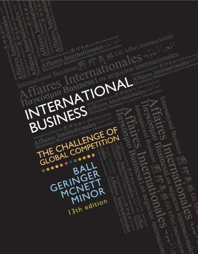 book International Business: The Challenge of Global Competition, 13th Edition