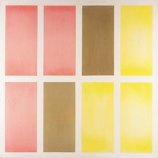 painting Untitled (Red, Brown and Yellow)