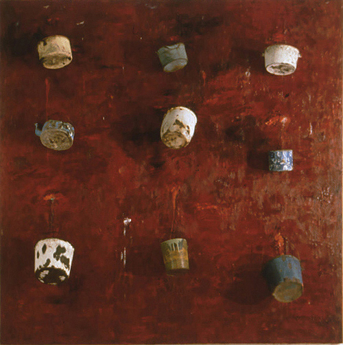 painting Untitled (Buckets)