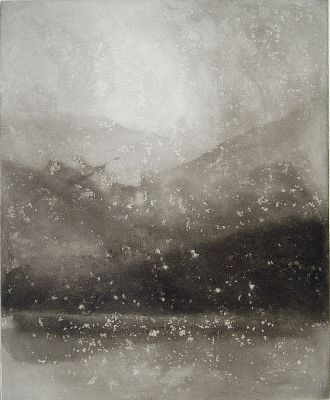 painting Evening Snow, Coniston