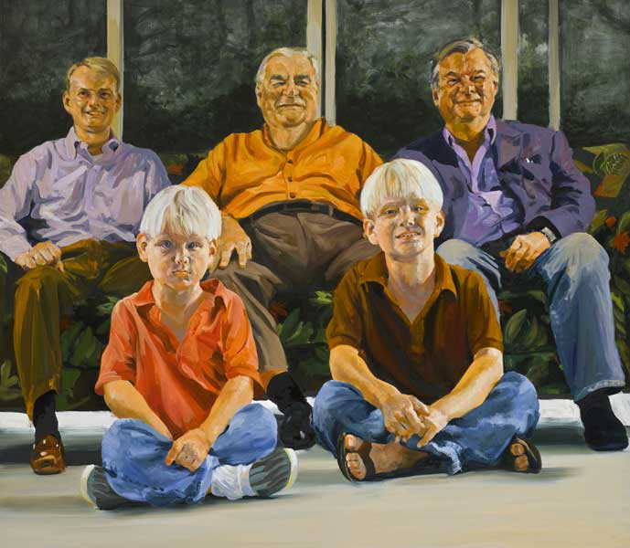 painting Four Generations of Dickie Men