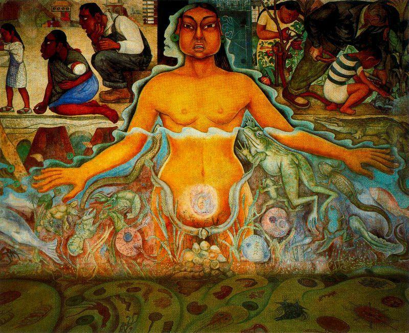 Mural De Diego Rivera Cultura Totonaca
