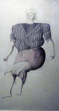 painting Donna Seduta