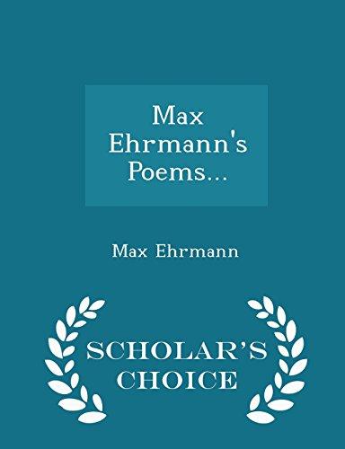 Max Ehrmann September 26 1872 September 9 1945