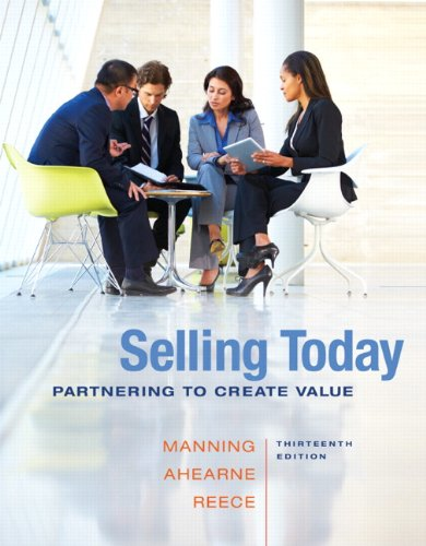 book Selling Today: Partnering to Create Value (13th Edition)