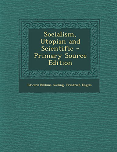 book Socialism, Utopian and Scientific - Primary Source Edition