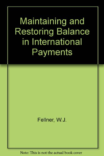 book Maintaining and Restoring Balance in International Trade