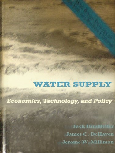 book Water Supply: Economics, Technology and Policy