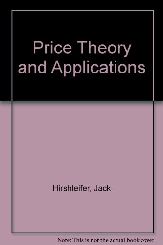 book Price theory and applications: Instructor\'s manual